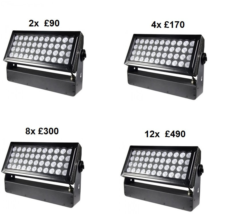 outdoor led uplighters hire in london