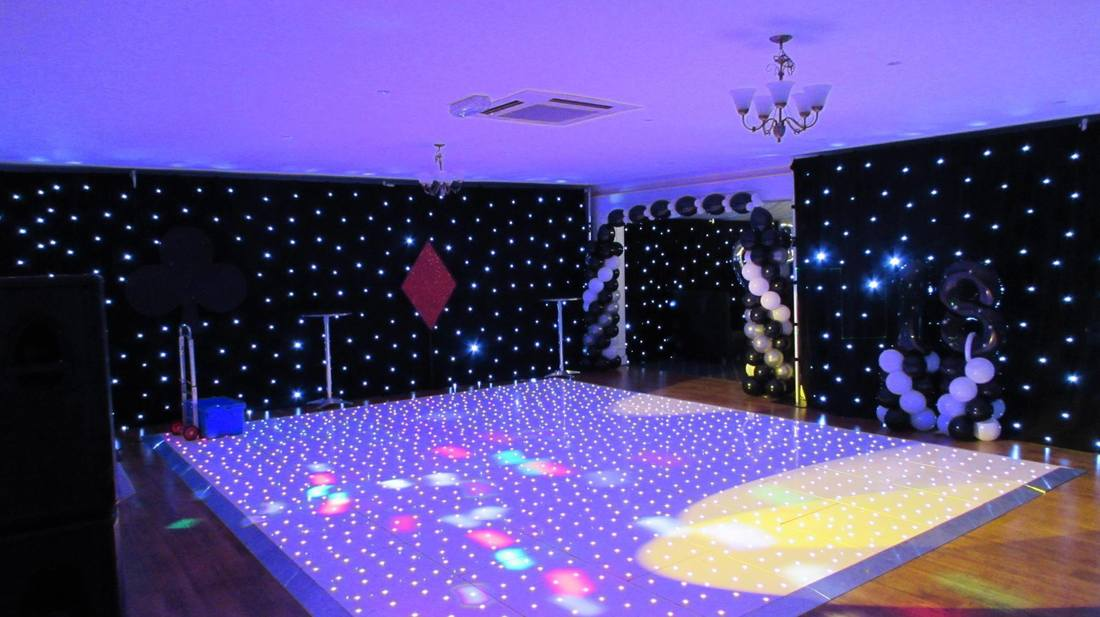 led starlit floor hire london