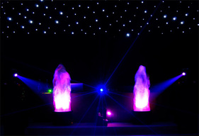 led flames hire london