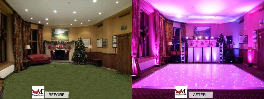 led dance floor hire surrey