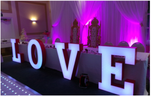 wall draping hire london