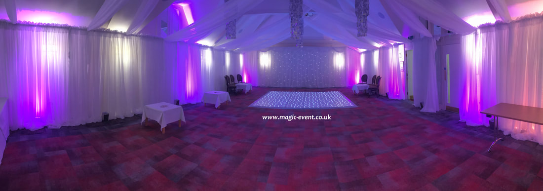 wall drape hire london