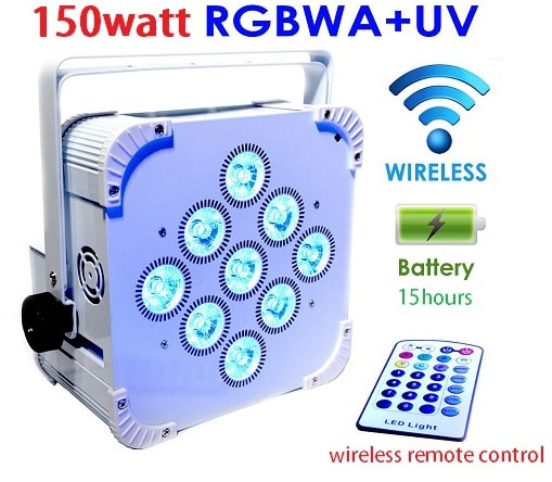 wireless led uplighters hire london